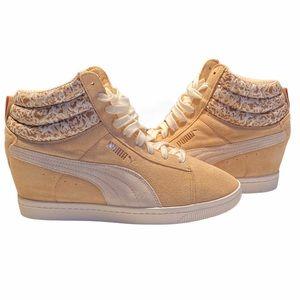 Puma Classic Wedge Suede Sneaker Sz9 NWOT